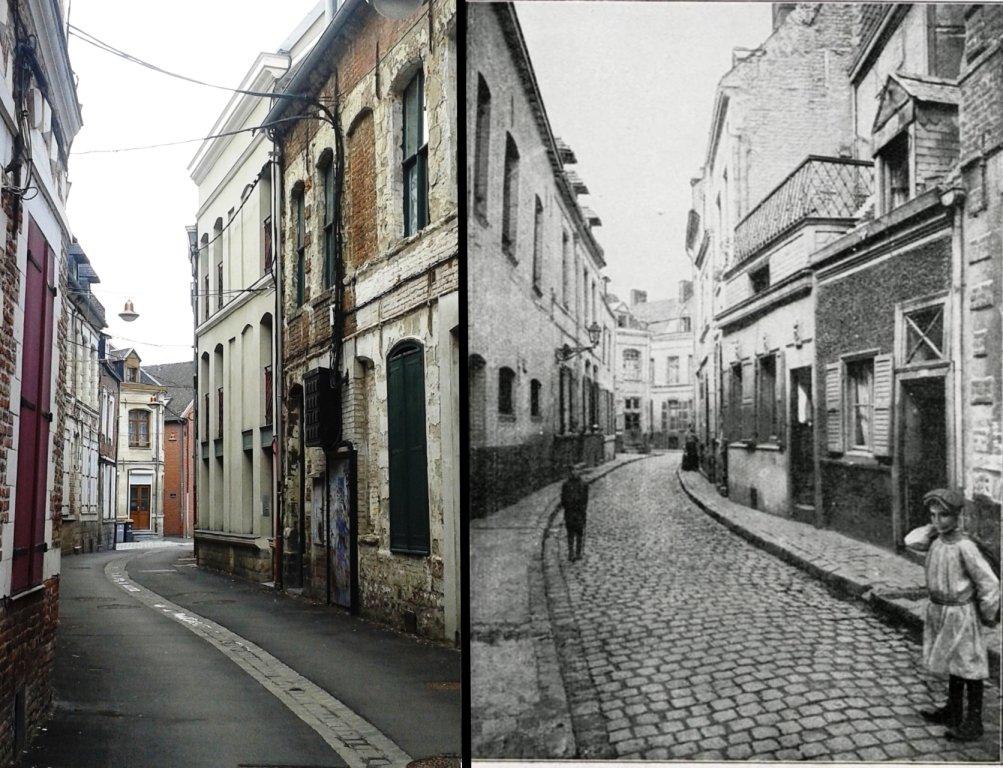 Rue des Maillets-Avant 14-18 et maintenant 2015