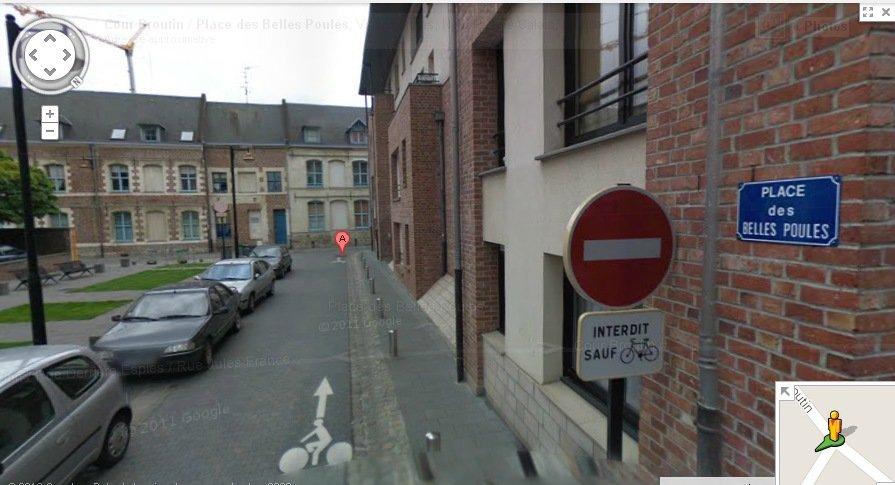 Place des belles poules (Google Street)