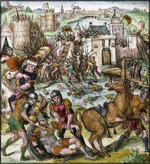 Caradoc blessé au siège de Valenciennes