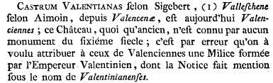 Castrum Valentianas