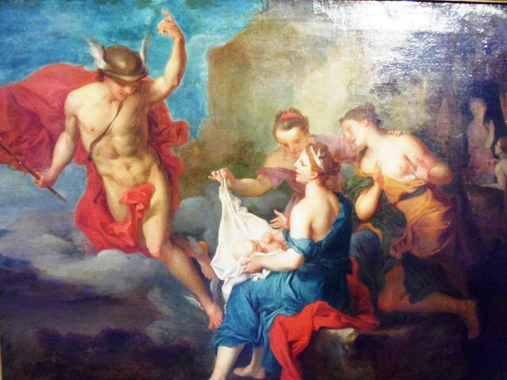 Bacchus confié aux nyphes de Nysa