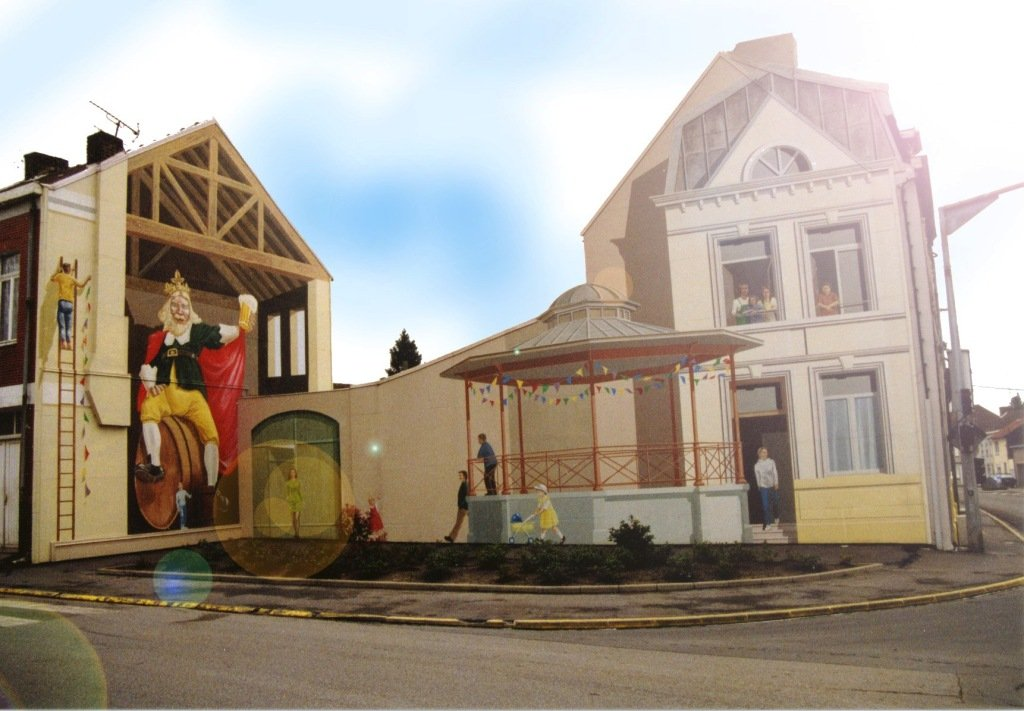 Gambrinus_fresque murale_Fresnes sur Escaut